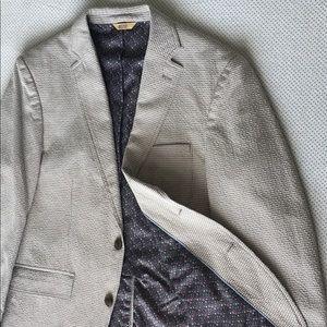 Sport Coat / Suit Jacket (Grey & Cream) - 40R